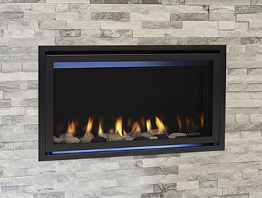 MAJESTIC Jade Linear Fireplace