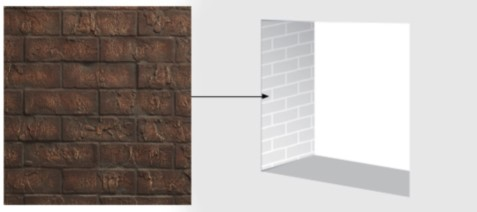 Majestic BRICKST36CR Traditional brick interior panels