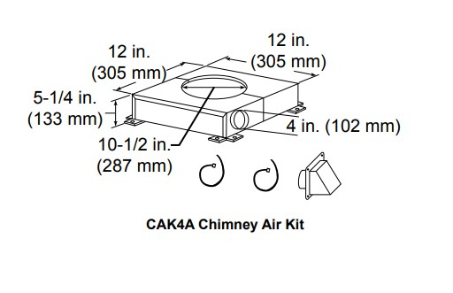 Majestic CAK4A Chimney air kit
