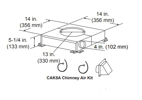 Majestic CAK5A Chimney Air Kit