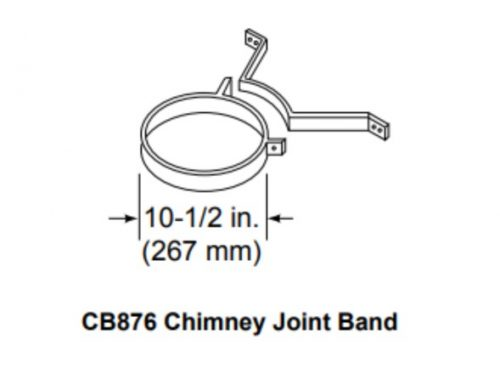 Majestic CB876 Chimney Joint Band