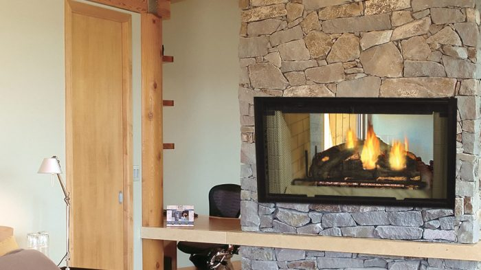Majestic DSR36 Designer Series 36 See-Thru Radiant Wood Burning Fireplace