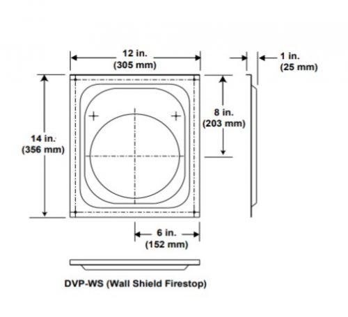 Majestic DVP-WS Wall Shield Firestop
