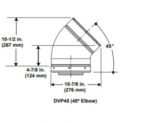 Majestic DVP45 45º Elbow