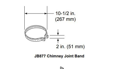 Majestic JB877 Chimney Joint Band