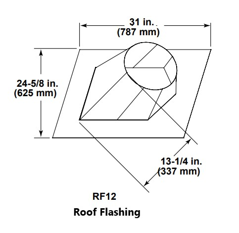 Majestic RF12 Roof Flashing
