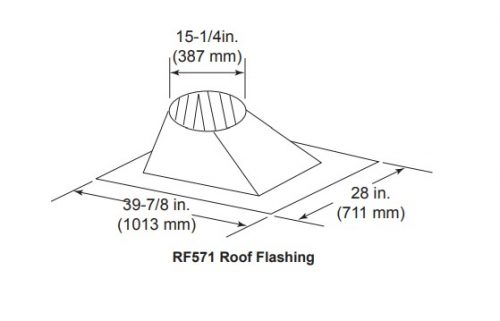 Majestic RF571 Roof Flashing