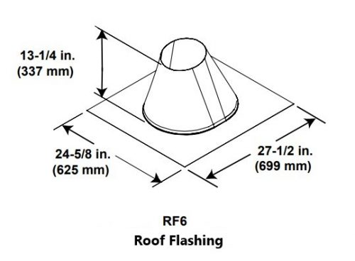 Majestic RF6 Roof Flashing