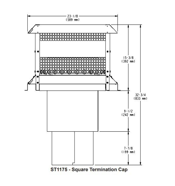Majestic ST1175 - Square Termination Cap