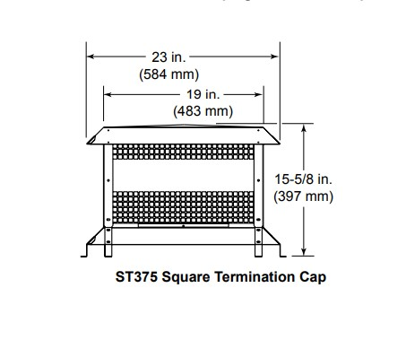 Majestic ST375 Square Termination Cap 2