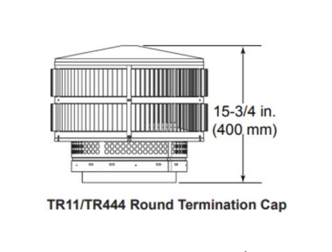 Majestic TR11-TR444 Round Termination Cap