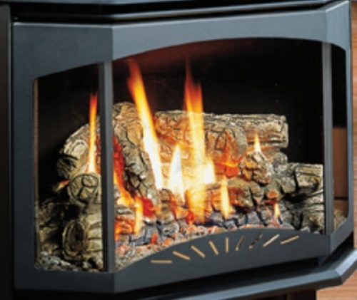 Kingsman Fireplaces F35DB Door Frame and Ceramic Glass