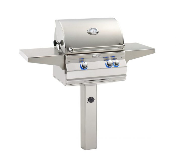 FireMagic A430s-G6 Aurora In-Ground Post Mount Grill, Analog