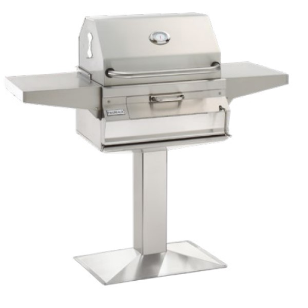 FireMagic 24 Post Mount Stainless Steel Charcoal Grill