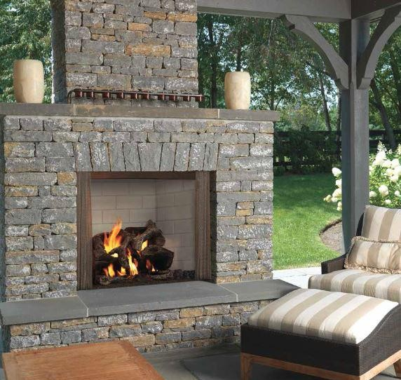 Majestic Odcastlewd 42 Castlewood 42 Outdoor Wood Burning Fireplace