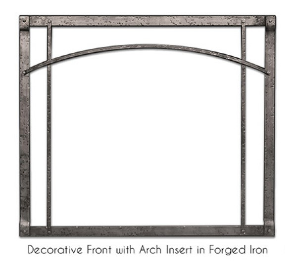 Empire Rushmore Decorative Front with Arch Inset in Forged Iron