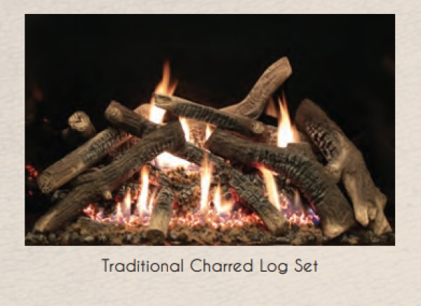 Empire Rushmore Traditional Charred Log Set