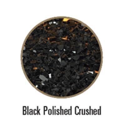 Empire Black Polished Crushed Glass