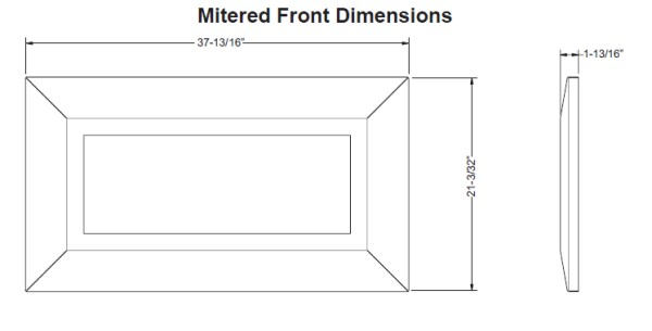 Empire Boulevard SL Mitered Front Dimensions
