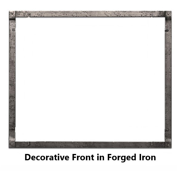 Empire Rushmore Decorative Front in Forged Iron