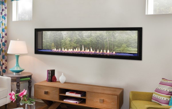"""Empire VFLB60SP Boulevard 60"""" Vent-Free Linear See-Through Fireplace"""