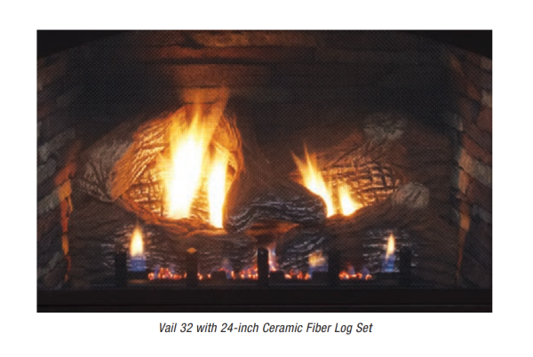 Empire 24-inch Ceramic Fiber Log Set