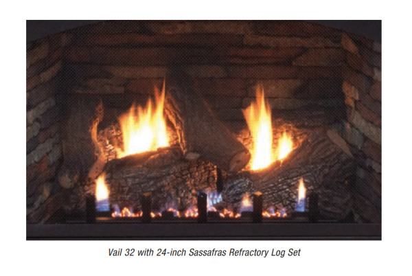 Empire 24-inch Sassafras Refractory Log Set