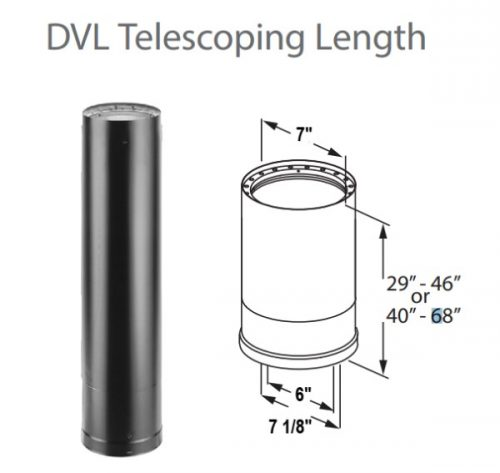 DURAVENT 6 DVL Telescoping Length