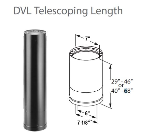DURAVENT 6 DVL Telescoping Length