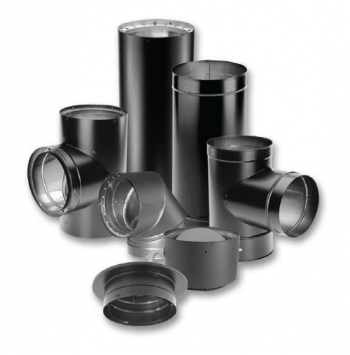 "Duravent DVL 6 "" Double-Wall Black Pipe"