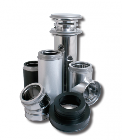 """Duravent DuraTech 6"""" All-fuel double-wall chimney system."""