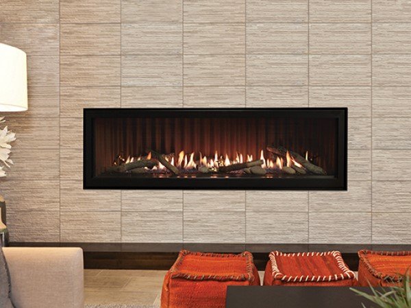 Empire Boulevard Direct-Vent Linear Fireplace, 60 logs