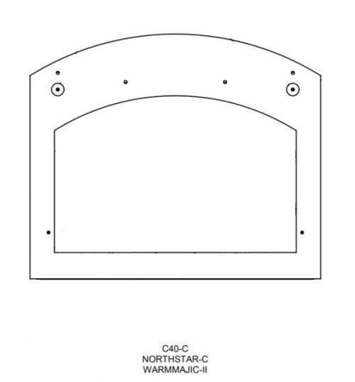 Majestic HHT-TEMPLATE-C Metal finishing template
