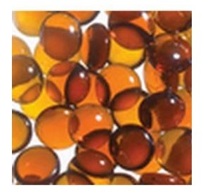 Superior GP43A 6.0 lb. Bag Amber Smooth Glass Pebbles
