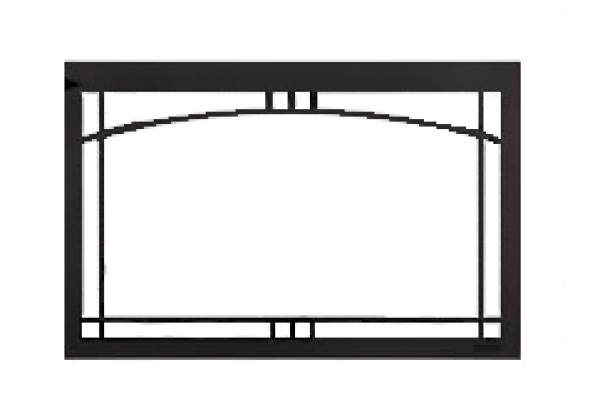 Majestic Contemporary Arch screen front Black