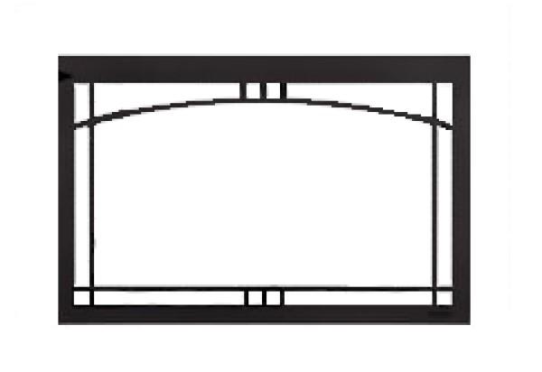 Majestic Contemporary Arch screen front Black