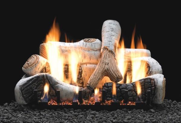 Empire Birch Ceramic Fiber Log Set