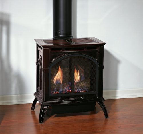 Empire DVP20CC Cast Iron Stove Porcelain Mahogany