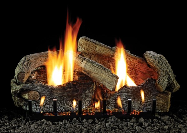 Empire Stacked Aged Oak Refractory Log Set