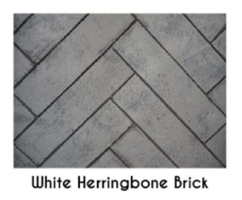 Empire White Herringbone Brick Liner