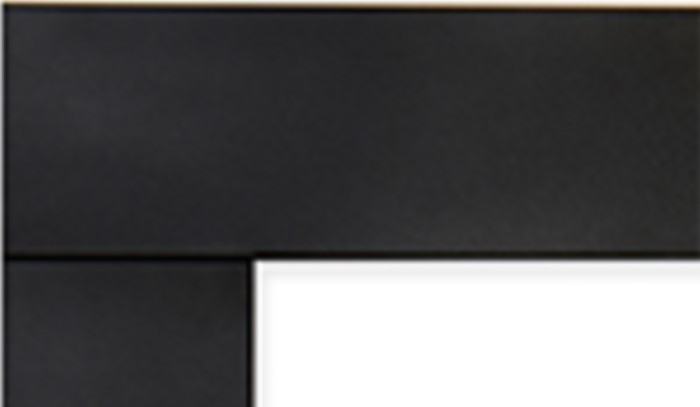Superior DS-BLK-RNCL Matte Black Decorative Surround