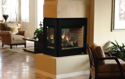 Superior Fireplaces DRT35PF 35 Peninsula Fireplace