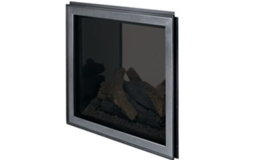 Superior Fireplaces Outdoor Window Kit (Dark-Tinted Tempered Glass) With Outdoor Barrier