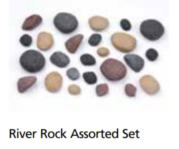 Superior RIVROCK-25PK River Rock 25 Piece Kit