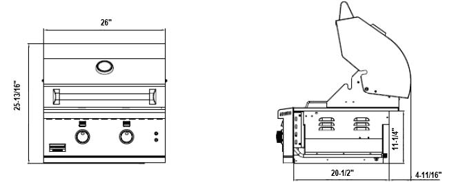 Broilmaster BSG262N 26-in