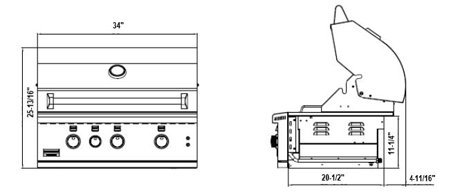 Broilmaster BSG343N 34-in