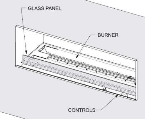 Empire Weather Deflector Glass Panel