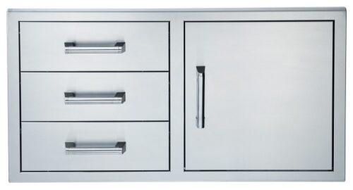 Broilmaster BSAW4222ST 42x22 single door triple drawers