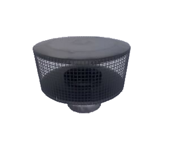 Superior Fireplaces RT-8DM-K Black Round Top with Mesh Screen