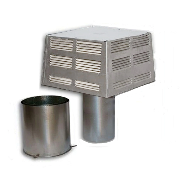 Superior Fireplaces STL-12D Square Top Termination with Slip Section